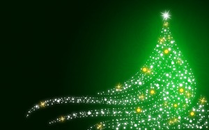 Christmas_wallpapers_Shimmering_Christmas_tree_on_Christmas__green_background_052979_