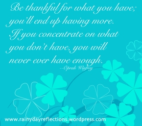 Be Thankful… Thoughtful Thursdays