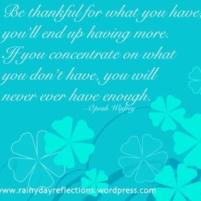 Be Thankful… ThoughtfulThursdays