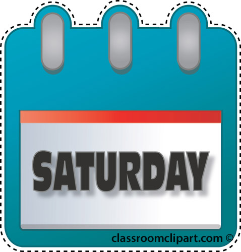 Saturday Calendar Clipart