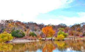 Fall Reflections on Lake RayRoberts