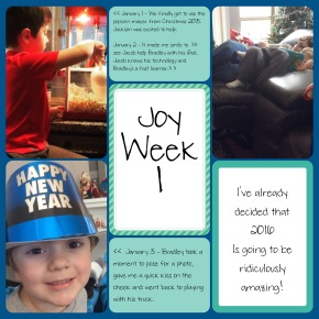January's Project Life  – Finding Joy Everyday