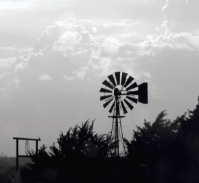 Windmill in the Clouds – Monochrome Madness Challenge