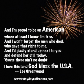 Monday Motivators – I'm Proud To Be An American…