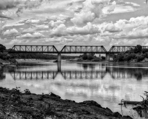 Crossing the Red River – Monochrome Madness Challenge