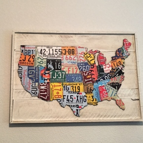 US Map License Plate Wall Art – DIY Style
