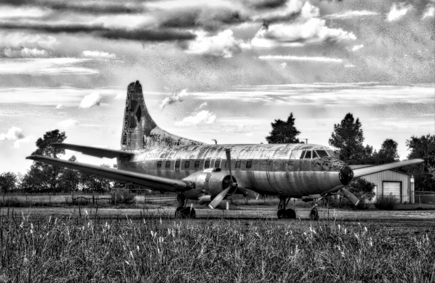 MartinPassengerPlane_BW_LIndaJamesPhotography