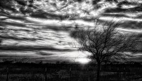 Texas Sunset (BW)