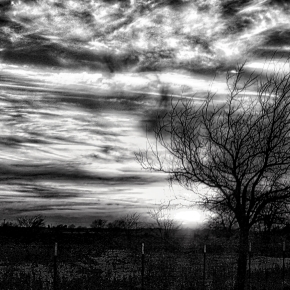 Texas Sunset (BW)